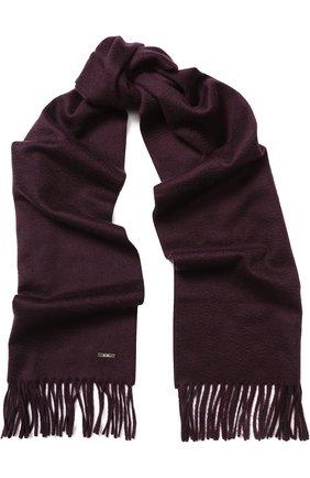 Мужской кашемировый шарф LORO PIANA бордового цвета, арт. FAB9149 | Фото 1