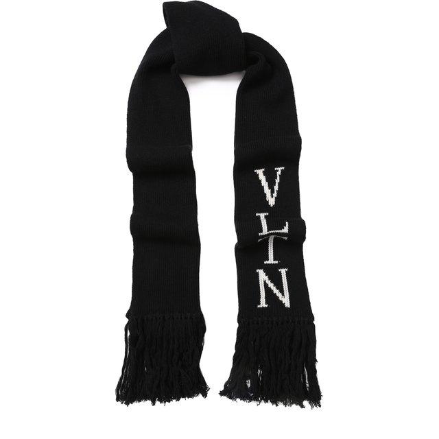 Шарф из смеси шерсти и кашемира Valentino Garavani VLTN Valentino