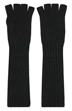 Удлиненные кашемировые митенки Johnstons Of Elgin светло-серые | Фото №1