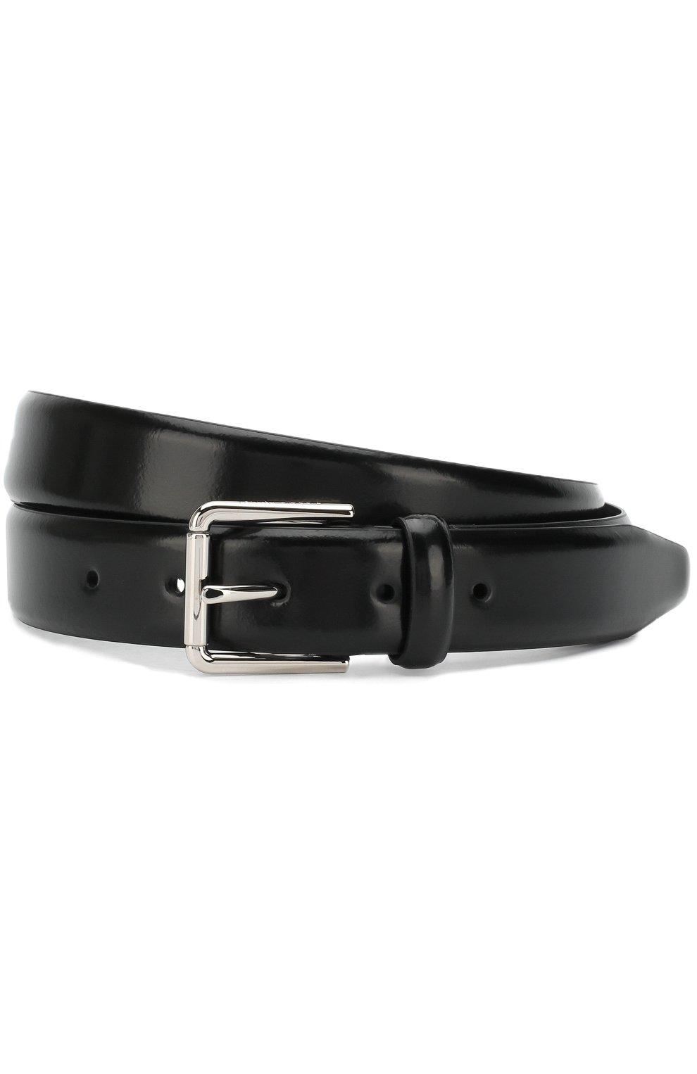 Мужской кожаный ремень с металлической пряжкой GIORGIO ARMANI черного цвета, арт. Y2S288/YEM3E | Фото 1