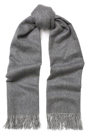Кашемировый шарф с бахромой Johnstons Of Elgin темно-бежевый | Фото №1