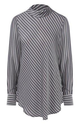 Женская блуза с воротником аскот в полоску See by Chloé, цвет белый, арт. CHS18AHT05023 в ЦУМ   Фото №1