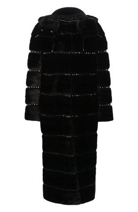 Шуба из меха норки с капюшоном | Фото №1