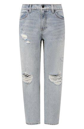 Укороченные джинсы с потертостями Denim X Alexander Wang разноцветные | Фото №1