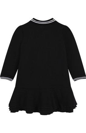 Женский платье с контрастной отделкой GIVENCHY черного цвета, арт. H02026/2A-3A   Фото 2
