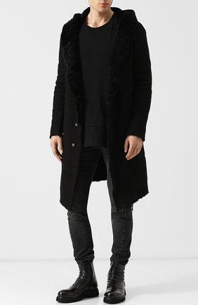 Мужские кожаные сапоги ROCCO P. черного цвета, арт. 7004/TRIP0N | Фото 2
