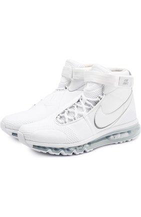 Комбинированные высокие кроссовки Kim Jones x NikeLab Air Max 360 на шнуровке NikeLab белые   Фото №1