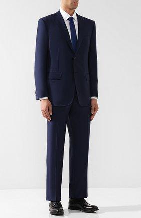 Мужской шерстяной костюм с пиджаком на двух пуговицах CORNELIANI темно-синего цвета, арт. 827315-8817087/92 Q1 | Фото 1