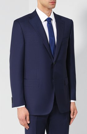 Мужской шерстяной костюм с пиджаком на двух пуговицах CORNELIANI темно-синего цвета, арт. 827315-8817087/92 Q1 | Фото 2