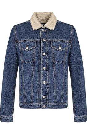 Джинсовая куртка на пуговицах Diesel синяя | Фото №1