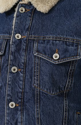 Джинсовая куртка на пуговицах Diesel синяя | Фото №5