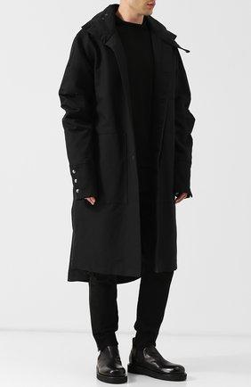 Кожаные лоферы с эластичными вставками Marsell черные | Фото №1