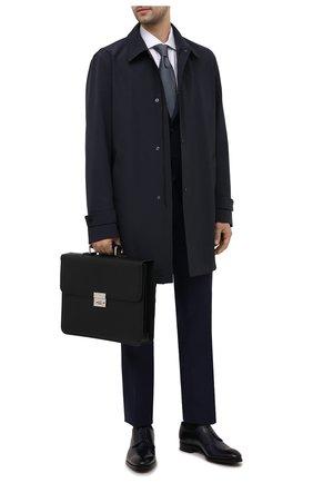 Мужской кожаный портфель CORNELIANI черного цвета, арт. 00TD15-0021812/00 | Фото 2 (Материал: Натуральная кожа)