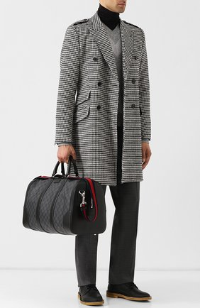 Мужская дорожная сумка gg supreme  GUCCI черного цвета, арт. 474131/K5IAN | Фото 2
