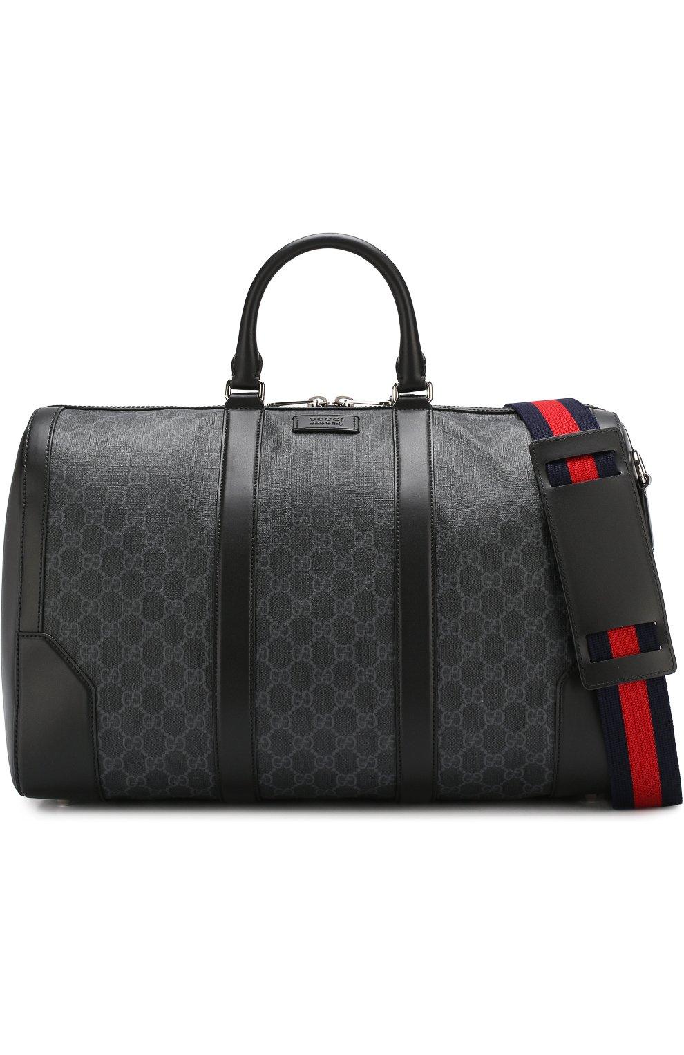 e2df5b72f65e Мужская черная дорожная сумка gg supreme GUCCI — купить за 111000 ...
