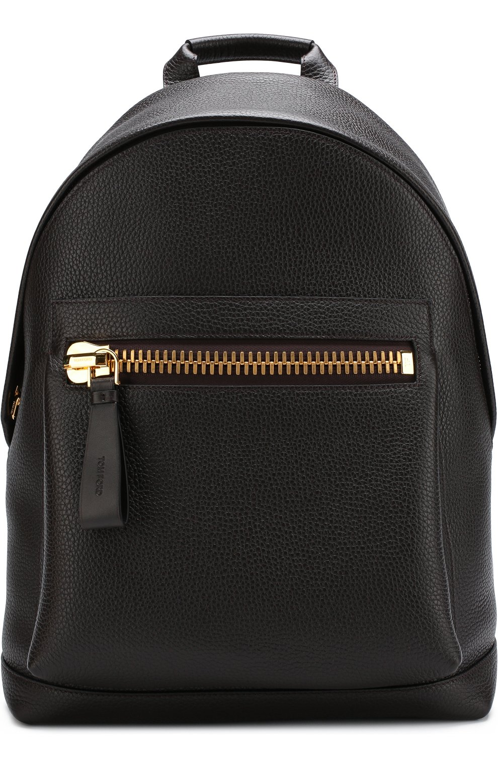 Мужской кожаный рюкзак TOM FORD темно-коричневого цвета, арт. H0250T-CG8 | Фото 1 (Материал: Натуральная кожа; Ремень/цепочка: На ремешке; Статус проверки: Проверено, Проверена категория)