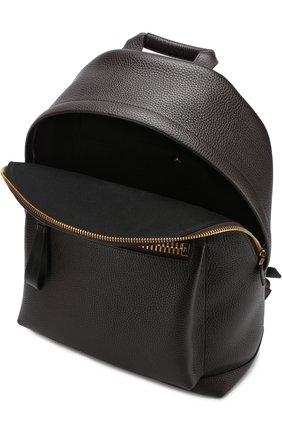 Мужской кожаный рюкзак TOM FORD темно-коричневого цвета, арт. H0250T-CG8 | Фото 4 (Материал: Натуральная кожа; Ремень/цепочка: На ремешке; Статус проверки: Проверено, Проверена категория)