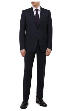 Мужской шерстяной костюм CANALI темно-синего цвета, арт. 11220/10/BF00267   Фото 1 (Материал внешний: Шерсть; Материал подклада: Купро; Рукава: Длинные; Костюмы М: Однобортный; Стили: Классический; Статус проверки: Проверена категория)