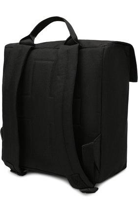 Текстильный портфель с нашивками NUNUNU черного цвета   Фото №1