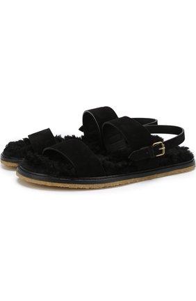 Кожаные сандалии Noé с внутренней меховой отделкой | Фото №1