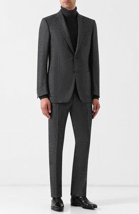 Мужские кожаные оксфорды на шнуровке ZEGNA COUTURE черного цвета, арт. A3085X-EVE   Фото 2
