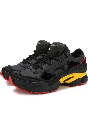 Комбинированные кроссовки Replicant Ozweego adidas by Raf Simons черные | Фото №1