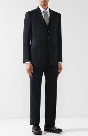 Мужской костюм-тройка из шерсти TOM FORD синего цвета, арт. 411R38/31AL43 | Фото 1