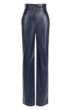 Расклешенные брюки с завышенной талией Stella Jean синие | Фото №1