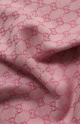 Мужские шерстяной шарф GUCCI светло-розового цвета, арт. 411115/3G200 | Фото 2