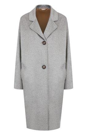 Однотонное кашемировое пальто Colombo светло-серого цвета | Фото №1