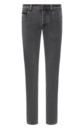 Мужские джинсы прямого кроя LORO PIANA темно-серого цвета, арт. FAG3527 | Фото 1