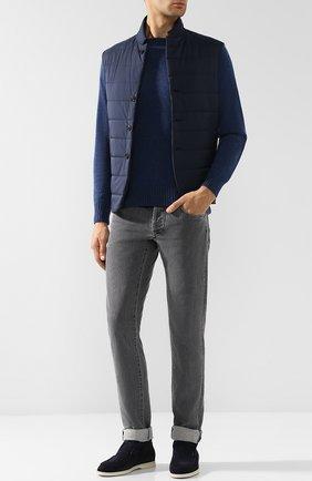 Мужские джинсы прямого кроя LORO PIANA темно-серого цвета, арт. FAG3527 | Фото 2