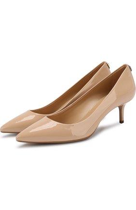 Лаковые туфли Flex на каблуке kitten heel MICHAEL Michael Kors светло-розовые   Фото №1