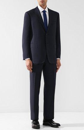 Мужской шерстяной костюм с пиджаком на двух пуговицах CORNELIANI темно-синего цвета, арт. 827315-8817013/92 Q1 | Фото 1
