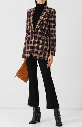 Женские кожаные ботильоны valentino garavani rockstud на устойчивом каблуке VALENTINO черного цвета, арт. QW2S0710/VCE | Фото 2