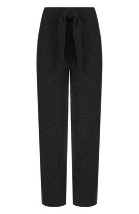 Укороченные вязаные брюки с поясом | Фото №1