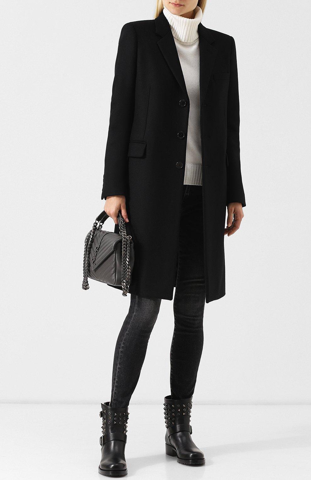 Женские кожаные ботинки valentino garavani rockstud rolling noir VALENTINO черного цвета, арт. QW2S0307/NPF | Фото 2
