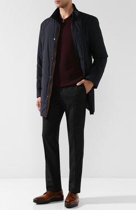 Мужское поло из смеси кашемира и шелка KITON бордового цвета, арт. UK05/Z | Фото 2