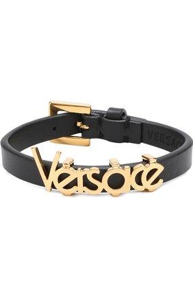 Кожаный браслет с логотипом бренда | Фото №1