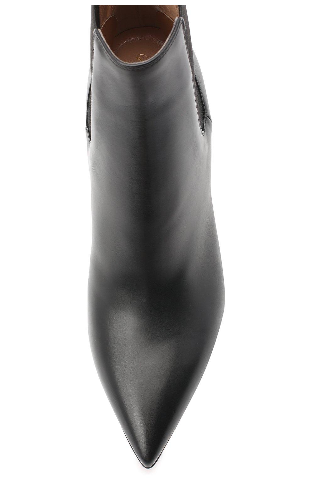 Кожаные ботильоны Evan на шпильке Gianvito Rossi черные   Фото №5