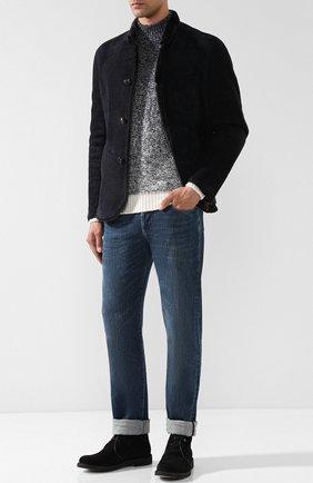 Мужские джинсы прямого кроя LORO PIANA синего цвета, арт. FAI1289 | Фото 2