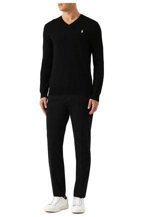 Мужской шерстяной пуловер POLO RALPH LAUREN черного цвета, арт. 710714347 | Фото 2