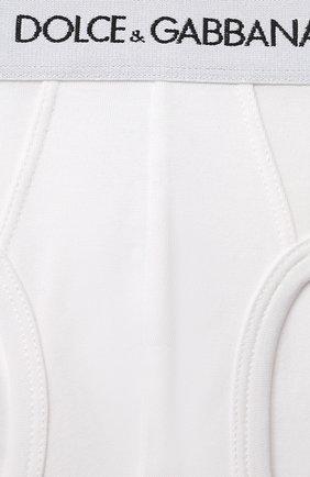 Детские комплект из двух хлопковых трусов DOLCE & GABBANA белого цвета, арт. L4J700/G70CT | Фото 3