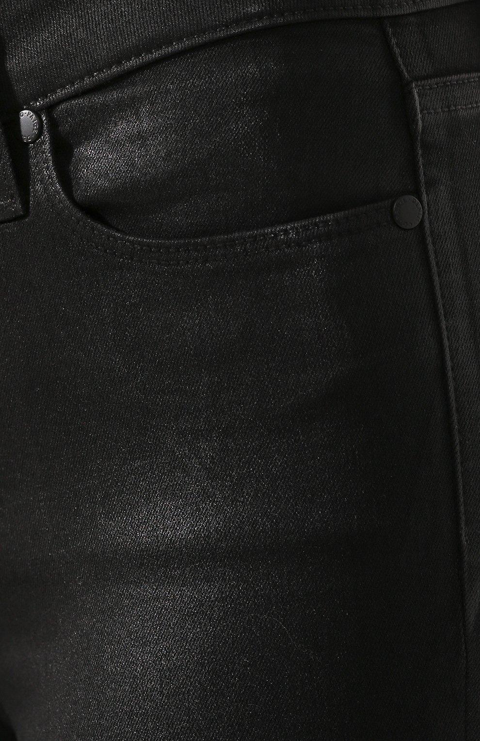 Укороченные джинсы с потертостями | Фото №5