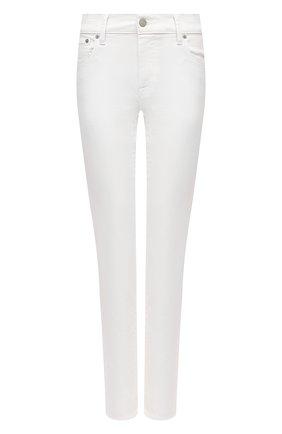 Женские однотонные джинсы-скинни POLO RALPH LAUREN белого цвета, арт. 211683971 | Фото 1