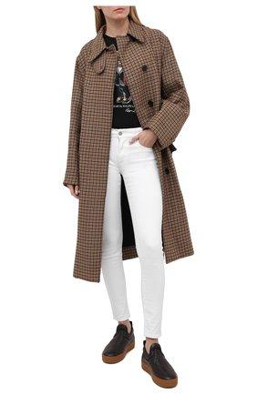 Женские однотонные джинсы-скинни POLO RALPH LAUREN белого цвета, арт. 211683971 | Фото 2