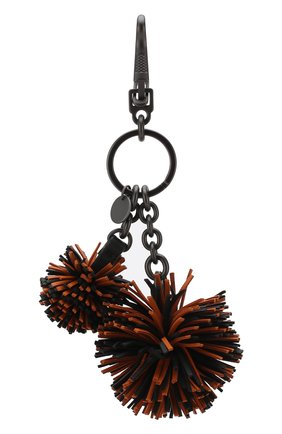 Женский брелок для ключей с кожаными подвесками BOTTEGA VENETA оранжевого цвета, арт. 531972/VBL00 | Фото 2