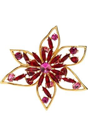 Брошь в виде цветка с отделкой кристаллами Swarovski | Фото №1