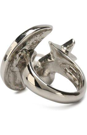 Кольцо с отделкой кристаллами Swarovski Oscar de la Renta серебряное | Фото №1