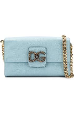 Сумка DG Millennials Dolce & Gabbana голубая цвета   Фото №5